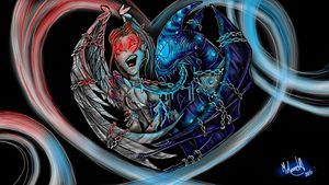 Nightmare Angel and Demon Chained