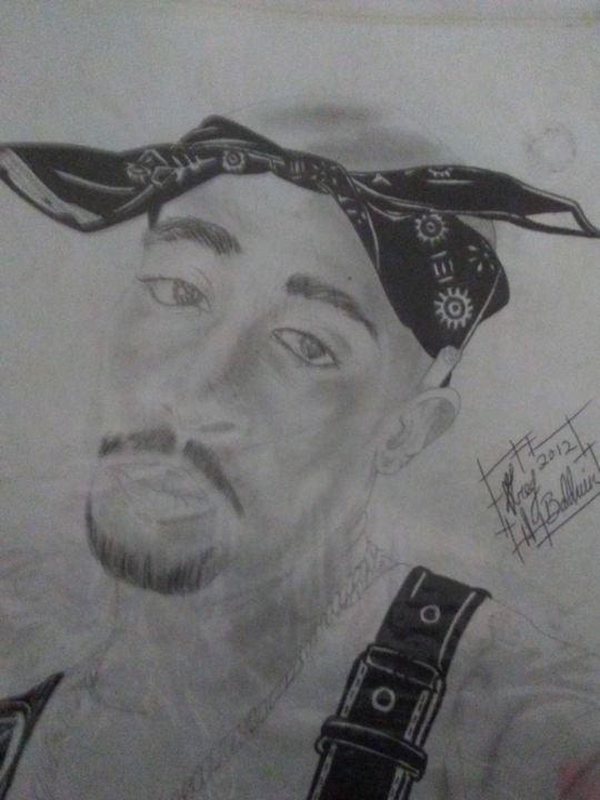 "Tupac"" Better Dayz"" - G.BaldwinzArt"