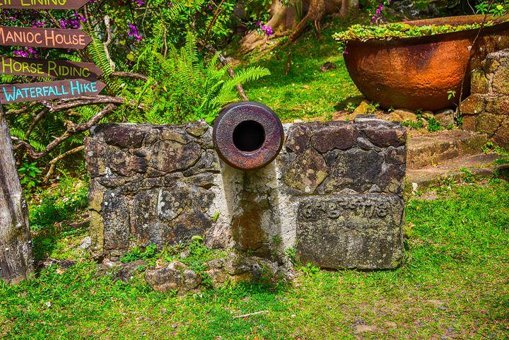 1778 Cannon on St Lucia - Aspen Ridge Gallery