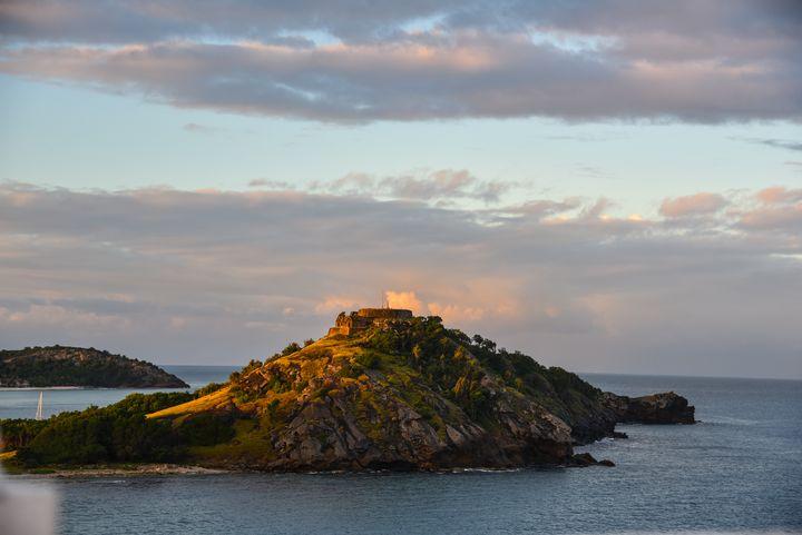Sunset on an Island Fort - Aspen Ridge Gallery