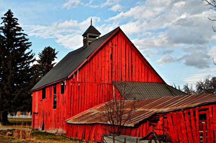 Old Red Barn of Midway - Aspen Ridge Gallery