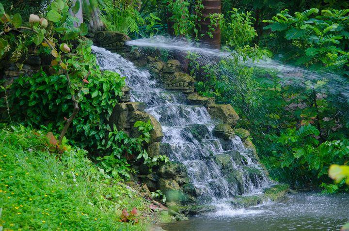Waterfall at Telum, Mexico - Aspen Ridge Gallery