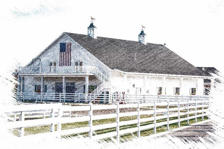 White Barn Charleston, Utah - Aspen Ridge Gallery