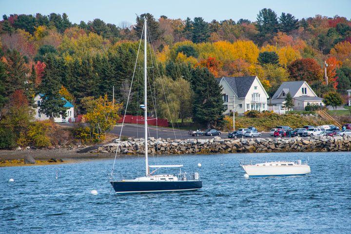 Sail Boat in Kennebunkport, Maine - Aspen Ridge Gallery
