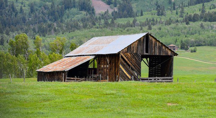 Historic Hay Barn, Mormon Row, Teton - Aspen Ridge Gallery