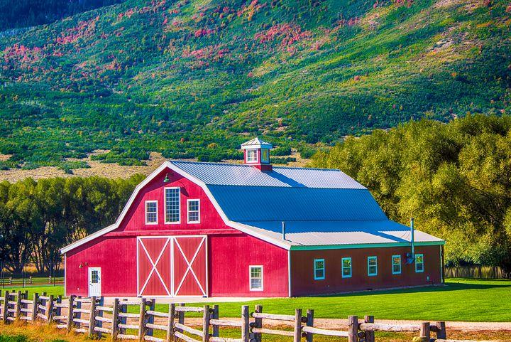 Red Barn in Wallsburg, Utah - Aspen Ridge Gallery