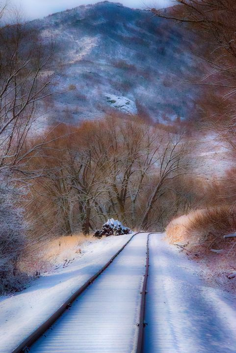 Heber Creeper RR in the winter - Aspen Ridge Gallery