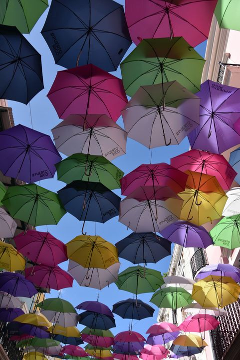 Umbrellas in Old San Juan PR - Aspen Ridge Gallery