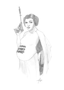 Leia with child