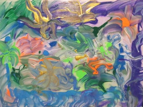 Floral fluid abstract - Frederick Agnew