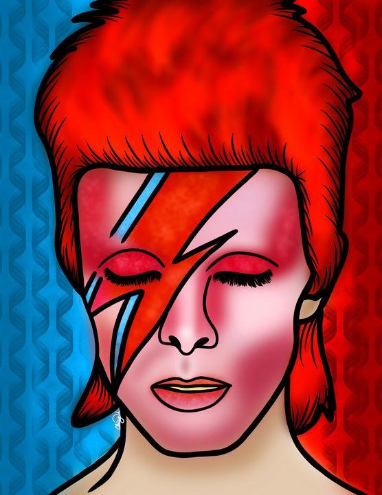 David Bowie Portrait Digital Art - Digital Art by Chrissy Adam