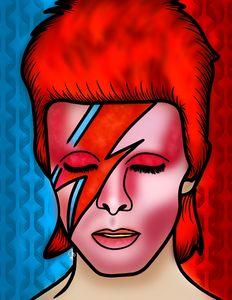 David Bowie Portrait Digital Art