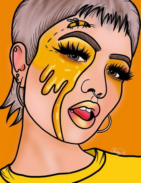Honey Bee Queen Digital Art - Digital Art by Chrissy Adam