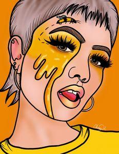 Honey Bee Queen Digital Art