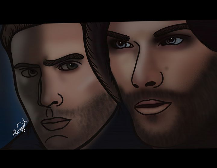 The Winchester Brothers Digital Art - Digital Art by Chrissy Adam