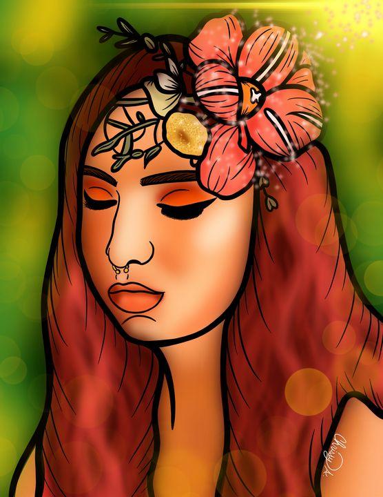 Magical Flower Digital Art - Digital Art by Chrissy Adam