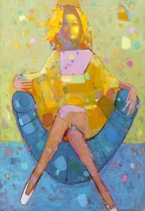 Blue armchair