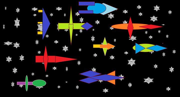 Spaceships - Brandon's Original Art Gallery