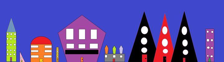The Colourful City - Brandon's Original Art Gallery