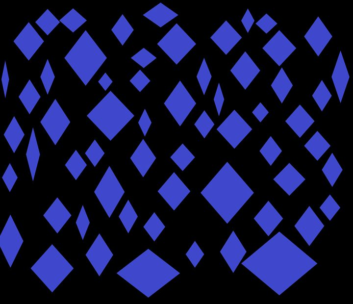 Blue Diamonds - Brandon's Original Art Gallery