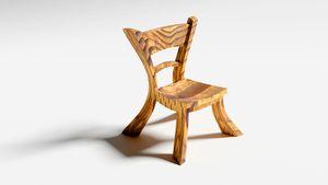 Cartoonish wooden chair