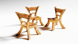 Cartoonish wooden furniture