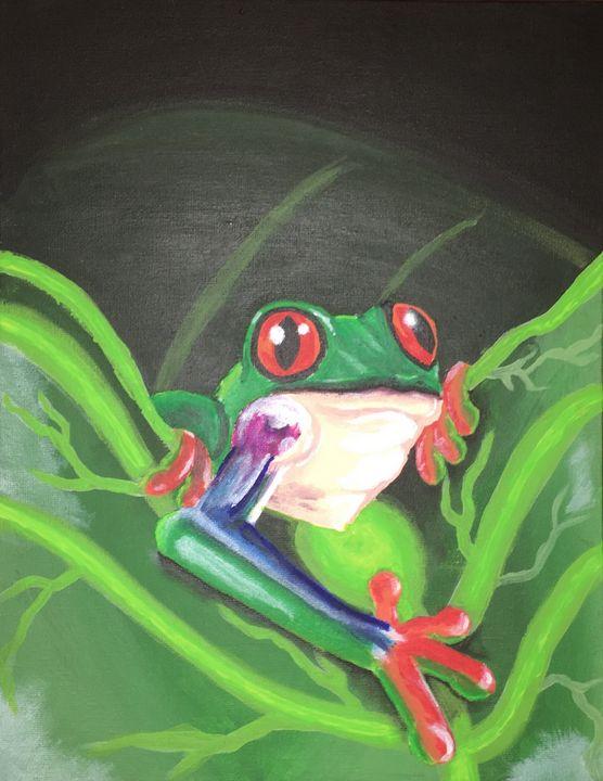 Tree frog in the leaves - ArtOfDeshawn