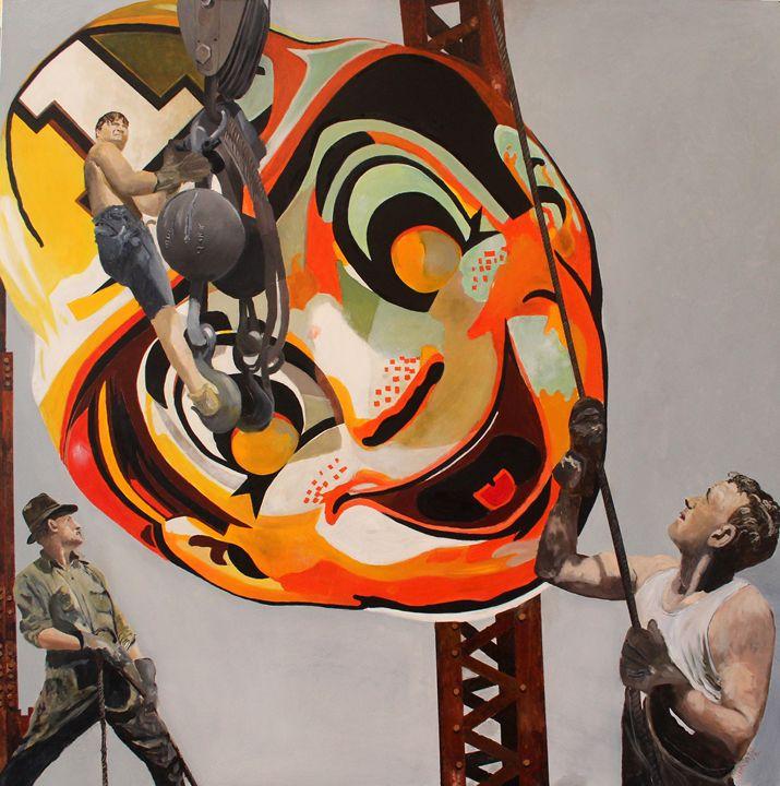 Clown Erection - Ken Vrana Art