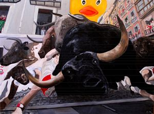 Ducky's Running with the Bulls