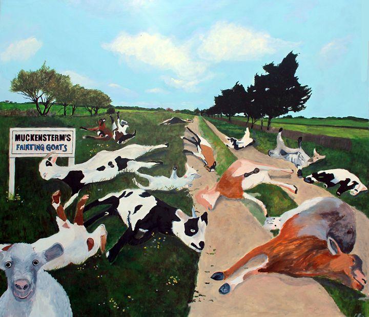 Muckenstern's Fainting Goats - Ken Vrana Art