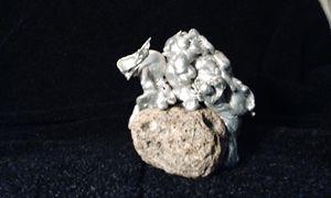 Beast on a boulder