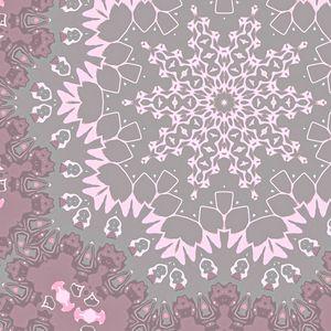 Whimsical pink snowflake
