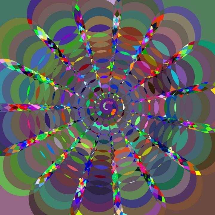 Interwoven circles of color - Pura Vida Visions