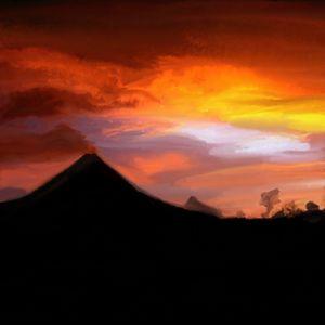 Volcano skyline