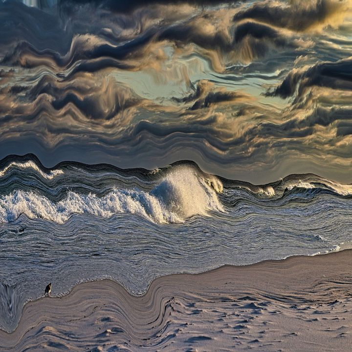 Storm front at the beach - Pura Vida Visions