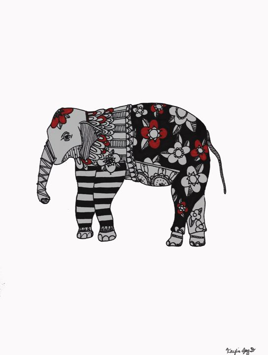 Painted Elephant - KayliejoyD
