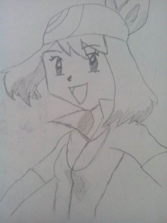 May ( From Pokemon)!!! :) - Some Cartoon Sketches (By MaxBhatt92)