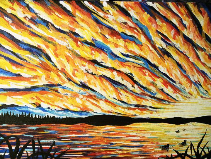 Clouds on Fire - Cedric X