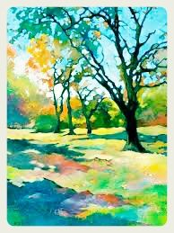 Landscape in water colours