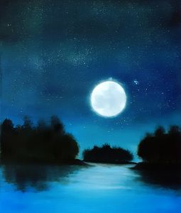 A Night sky with moonlight