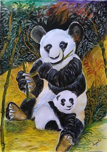 Panda & its baby