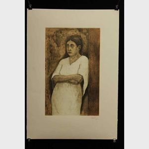 Contemplating Woman - Ricardo Leon