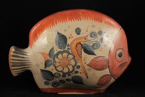 Vintage Mexican Ceramic Fish