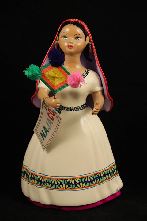 Huichola Indian Lupita Doll Figurine - Wandering Gypsy