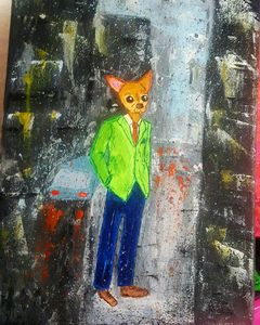 Pablo in the rain