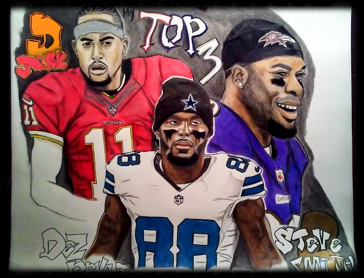 D jack, dez bryant and steve smith - Dave's Art