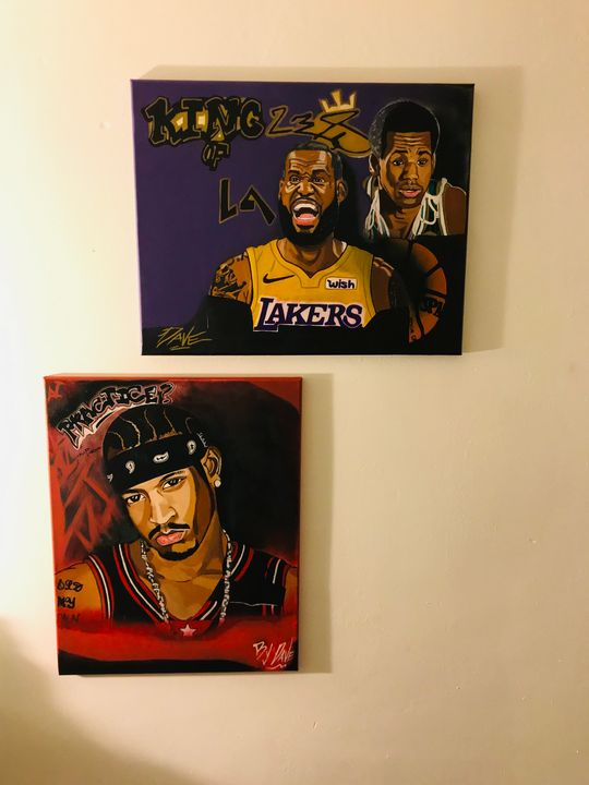 Allen Iverson and LEBRON James - Dave's Art
