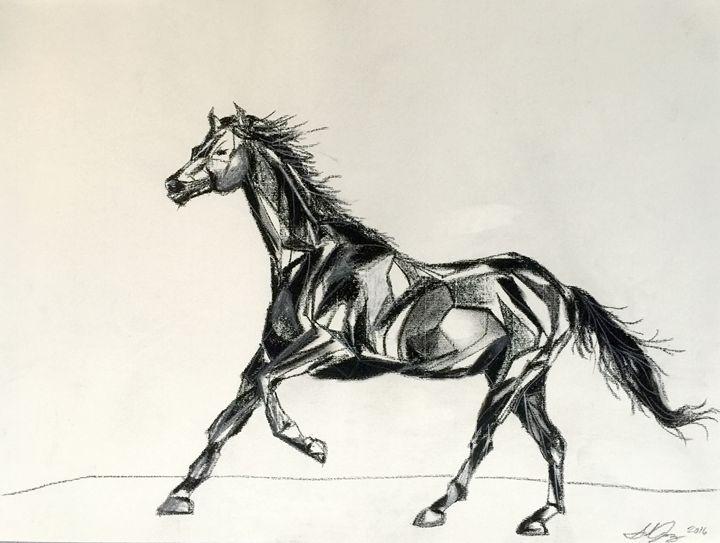 Abstract Running Horse - Salvador Juarez