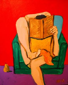 The girl in yellow reading I