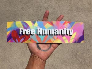 Free Humanity Bumper Sticker